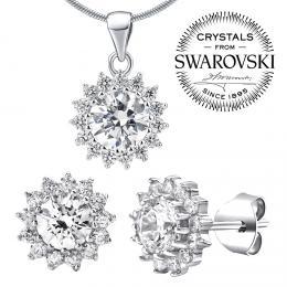 SILVEGO st��brn� souprava �perk� se Swarovski(R) Crystals