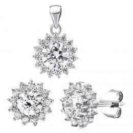 SILVEGO støíbrná souprava šperkù se Swarovski® Zirconia