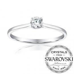Silvego Princess stшнbrnэ prsten se Swarovski(R) Zirconia