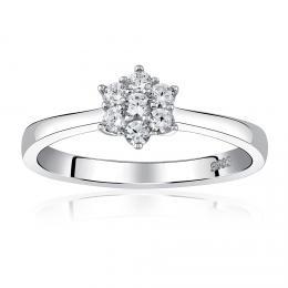 Z�snubn� st��brn� prsten FLORINA s Brilliance Zirconia - zv�t�it obr�zek