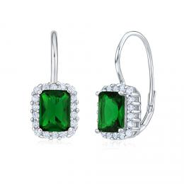 Stшнbrnй nбuљnice se smaragdovм zelenэm kamenem