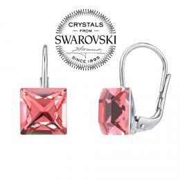 SILVEGO stшнbrnй nбuљnice se Swarovski(R) Crystals 8 mm rщћovй