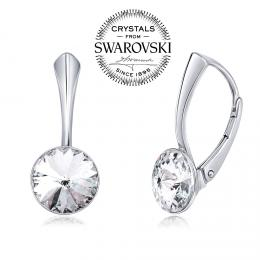 SILVEGO stшнbrnй nбuљnice se Swarovski(R) Crystals 8 mm rivoli иirй