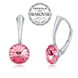 SILVEGO stшнbrnй nбuљnice se Swarovski(R) Crystals 8 mm rivoli rщћovй