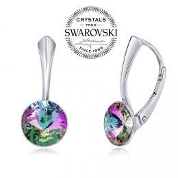 SILVEGO stшнbrnй nбuљnice se Swarovski(R) Crystals 8 mm rivoli vitrail light
