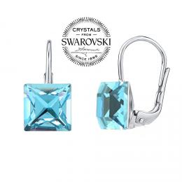 SILVEGO st��brn� n�u�nice se Swarovski(R) Crystals Aquamarine