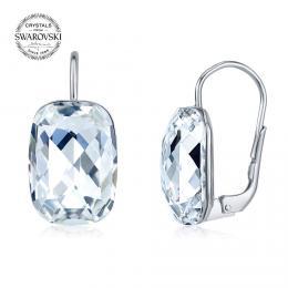 SILVEGO st��brn� n�u�nice se Swarovski® Crystals Baguette �ir� - zv�t�it obr�zek