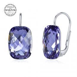 SILVEGO stшнbrnй nбuљnice se Swarovski® Crystals tanzanite