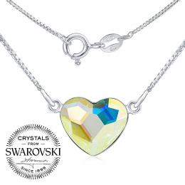 SILVEGO stшнbrnэ nбhrdelnнk se Swarovski(R) Crystals srdce Aurora Boreale