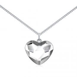 SILVEGO støíbrný náhrdelník se Swarovski® Crystals srdce èiré