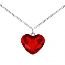 SILVEGO støíbrný náhrdelník se Swarovski® Crystals srdce èervené - zvìtšit obrázek