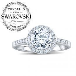 SILVEGO st��brn� prsten SKYE se Swarovski(R) Crystals