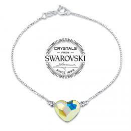 SILVEGO st��brn� n�ramek se Swarovski(R) Crystals srdce Aurora Boreale - zv�t�it obr�zek