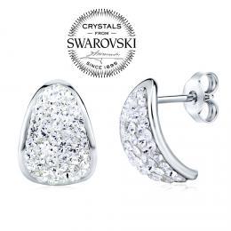 SILVEGO st��brn� n�u�nice se Swarovski(R) Crystals 14 mm