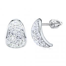 SILVEGO støíbrné náušnice se Swarovski® Crystals 14 mm