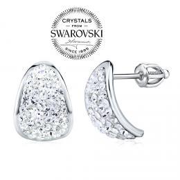 SILVEGO st��brn� n�u�nice se Swarovski® Crystals 14 mm