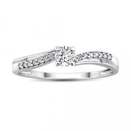 Zlat� z�snubn� prsten CASABLANCA s diamanty