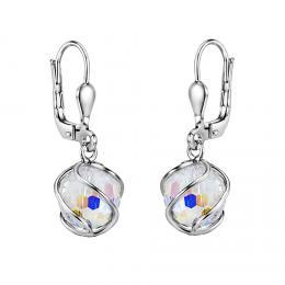 SILVEGO støíbrné náušnice se Swarovski® Crystals