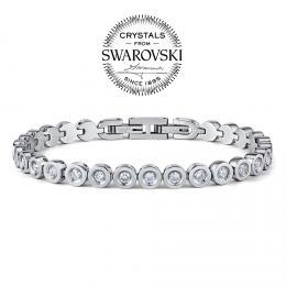 SILVEGO náramek ARIANA z chirurgické oceli se Swarovski® Crystals