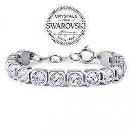 SILVEGO n�ramek BROOKLYN z chirurgick� oceli se Swarovski(R) Crystals