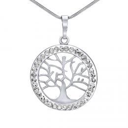 SILVEGO st��brn� p��v�sek strom �ivota se Swarovski® Crystals