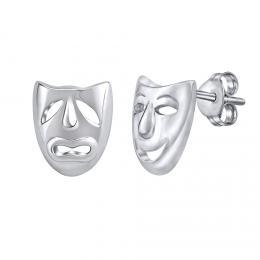 St��brn� n�u�nice divadeln� masky - rhodiovan�