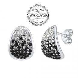 SILVEGO stшнbrnй nбuљnice se Swarovski(R) Crystals 14 mm иernй