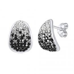 SILVEGO st��brn� n�u�nice se Swarovski® Crystals 14 mm �ern�