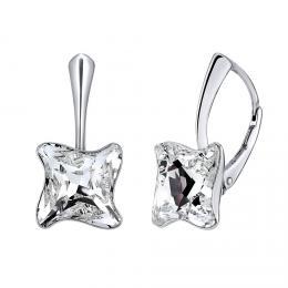 SILVEGO støíbrné náušnice TWISTER se Swarovski® Crystals
