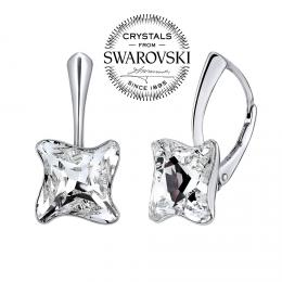SILVEGO st��brn� n�u�nice TWISTER se Swarovski(R) Crystal