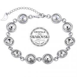 SILVEGO st��brn� n�ramek se Swarovski(R) Crystal 8 mm rivoli �ir�