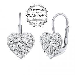 SILVEGO stшнbrnй nбuљnice srdce se Swarovski(R) krystaly