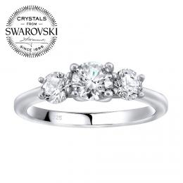 SILVEGO stшнbrnэ prsten VICTORIA se Swarovski(R) Zirconia