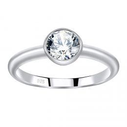 SILVEGO st��brn� prsten ISADORA se Swarovski® Zirconia