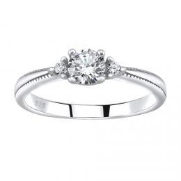 SILVEGO stшнbrnэ prsten MELAYNA se Swarovski® Zirconia