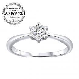 SILVEGO st��brn� prsten SOPHIA se Swarovski® Crystals
