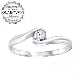 SILVEGO st��brn� prsten se Swarovski® Crystals