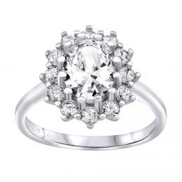 Stшнbrnэ prsten CESARIA s Brilliance Zirconia