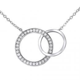 Støíbrný náhrdelník TOGETHER FOREVER spojené dva kruhy