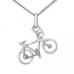 Støíbrný náhrdelník s pøívìskem silnièní kolo