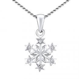Støíbrný náhrdelník SNÌHOVÁ VLOÈKA - zvìtšit obrázek