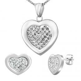 Set n�u�nic a n�hrdeln�ku z chirurgick� oceli ve tvaru srdce