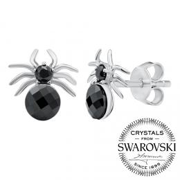 SILVEGO stшнbrnй nбuљnice pavouci se Swarovski® Krystaly
