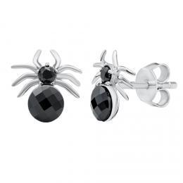 SILVEGO støíbrné náušnice pavouci se Swarovski® Krystaly - zvìtšit obrázek