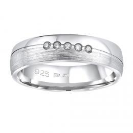Snubnн stшнbrnэ prsten PRESLEY v provedenн se zirkony pro ћeny