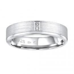 Snubnн stшнbrnэ prsten MADEIRA v provedenн se zirkony pro ћeny