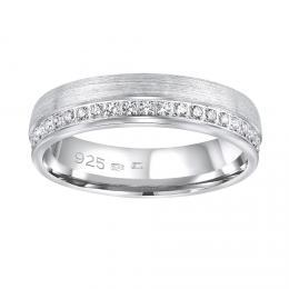 Snubn� st��brn� prsten PARADISE v proveden� se zirkony pro �eny