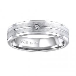 Snubn� st��brn� prsten AVERY v proveden� se zirkonem pro �eny