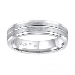 Snubnн stшнbrnэ prsten AVERY v provedenн bez kamene pro muћe i ћeny