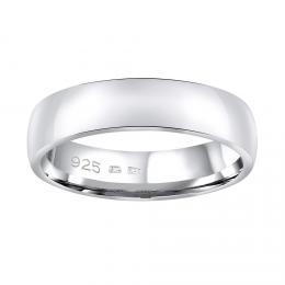 Snubn� st��brn� prsten POESIA v proveden� bez kamene pro mu�e i �eny